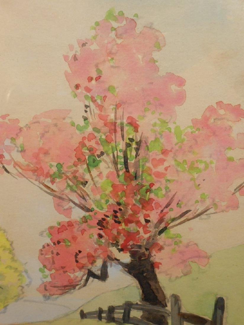 1920's Springtime Watercolor Signed Royer - 7