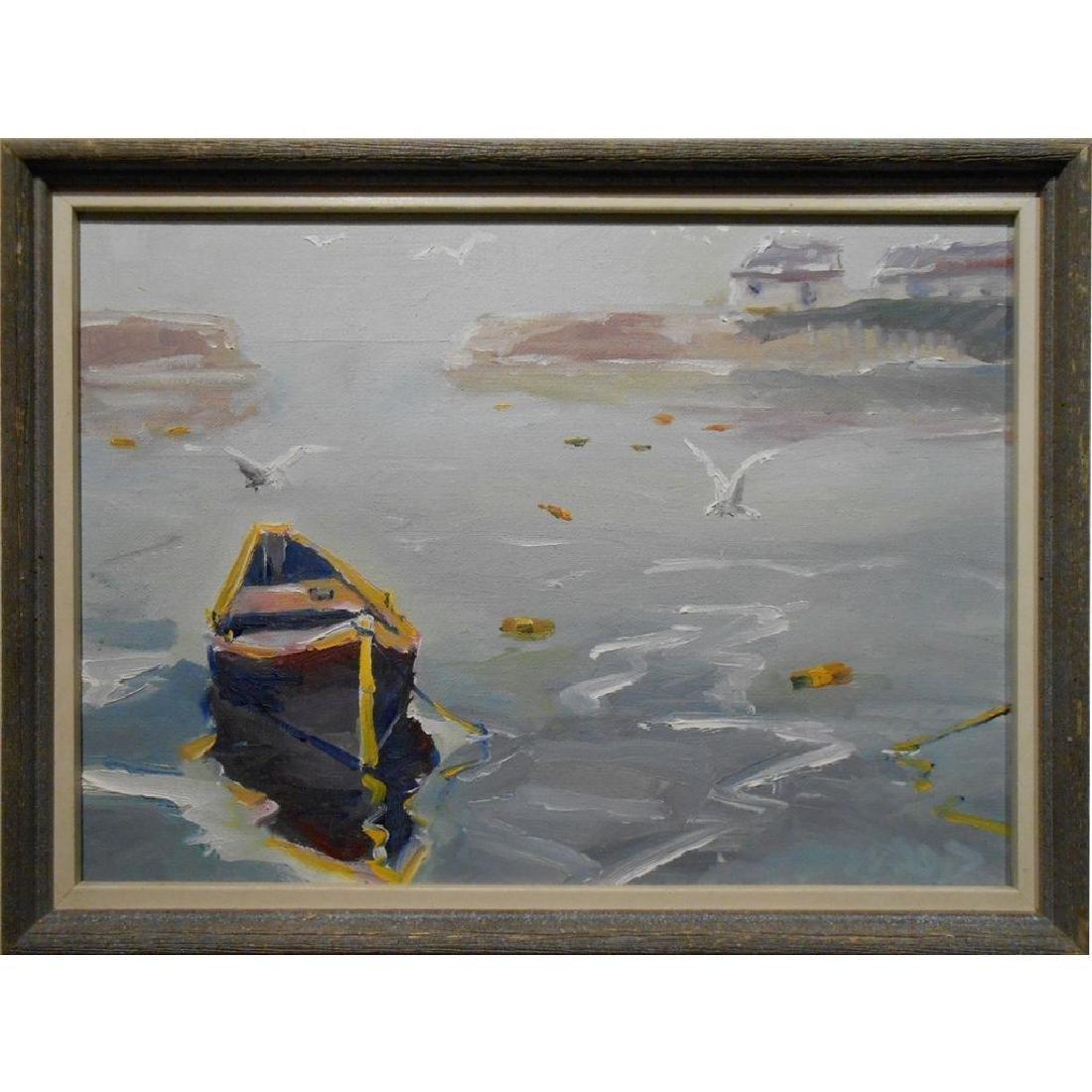 Small 1977 Oil Painting Cape Ann Massachusetts
