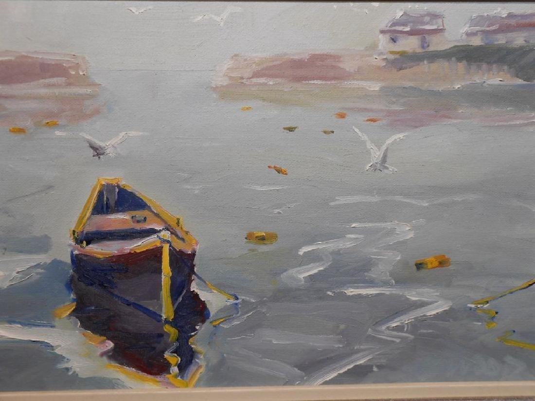 Small 1977 Oil Painting Cape Ann Massachusetts - 2