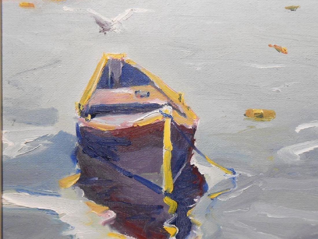 Small 1977 Oil Painting Cape Ann Massachusetts - 3