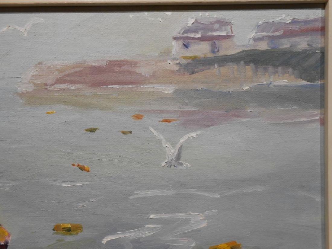 Small 1977 Oil Painting Cape Ann Massachusetts - 4