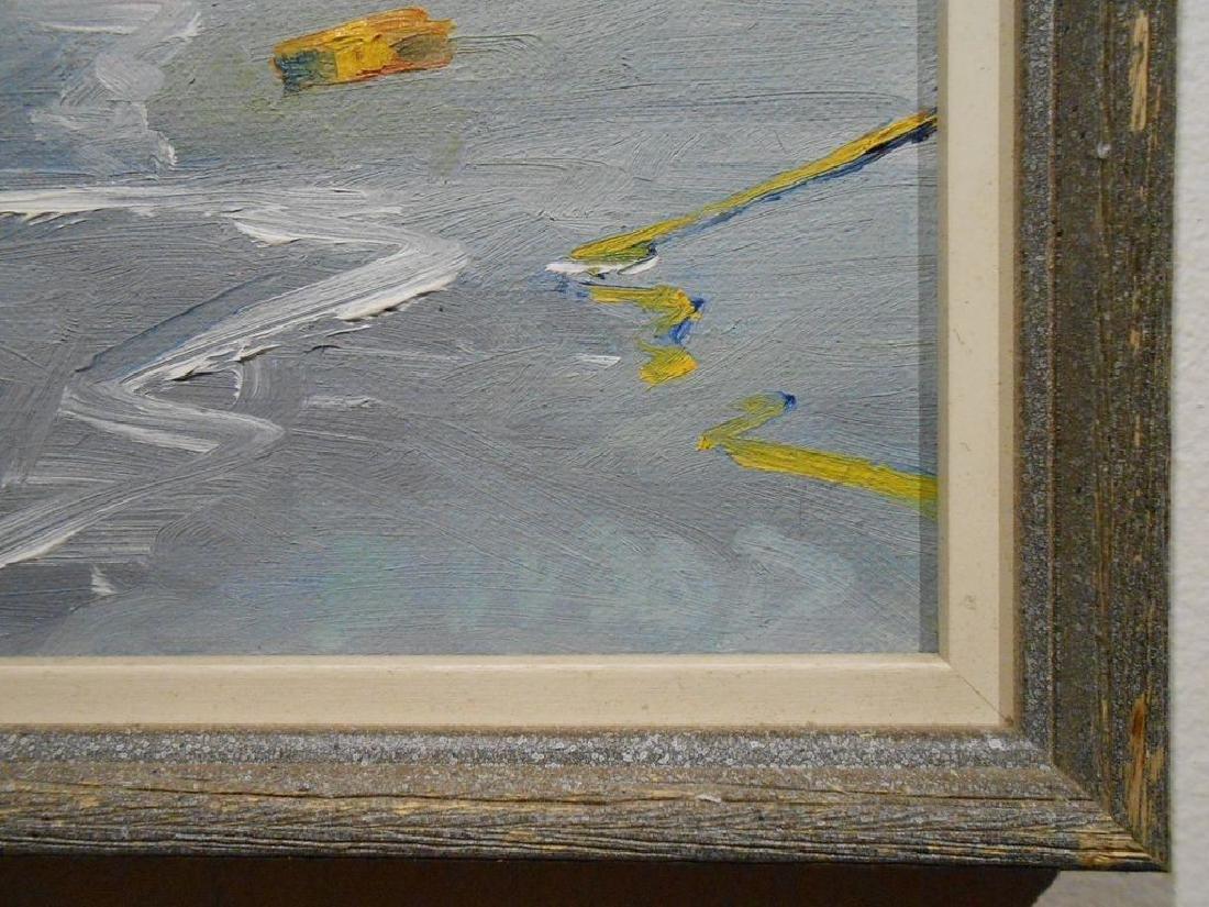 Small 1977 Oil Painting Cape Ann Massachusetts - 5