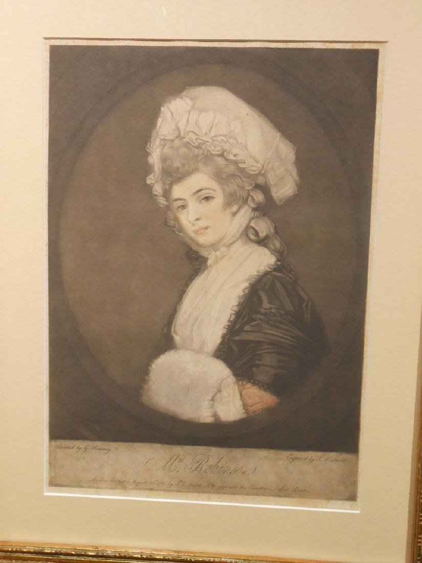 1781 Color Engraving Of Mrs. Robinson By Romney - 2