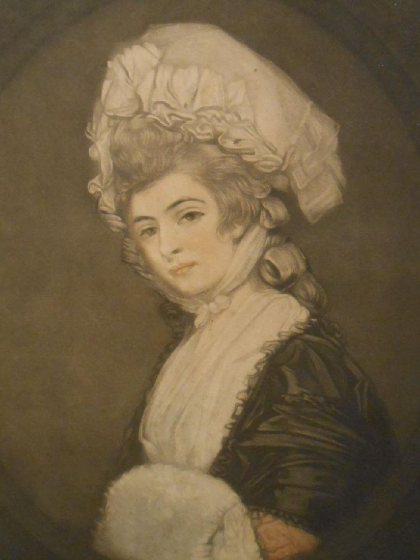 1781 Color Engraving Of Mrs. Robinson By Romney - 4