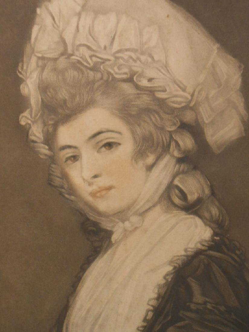 1781 Color Engraving Of Mrs. Robinson By Romney - 5