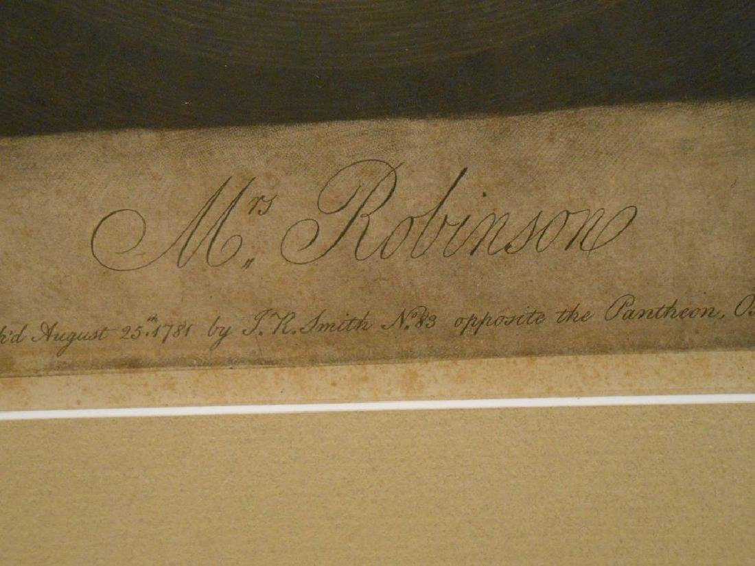 1781 Color Engraving Of Mrs. Robinson By Romney - 6