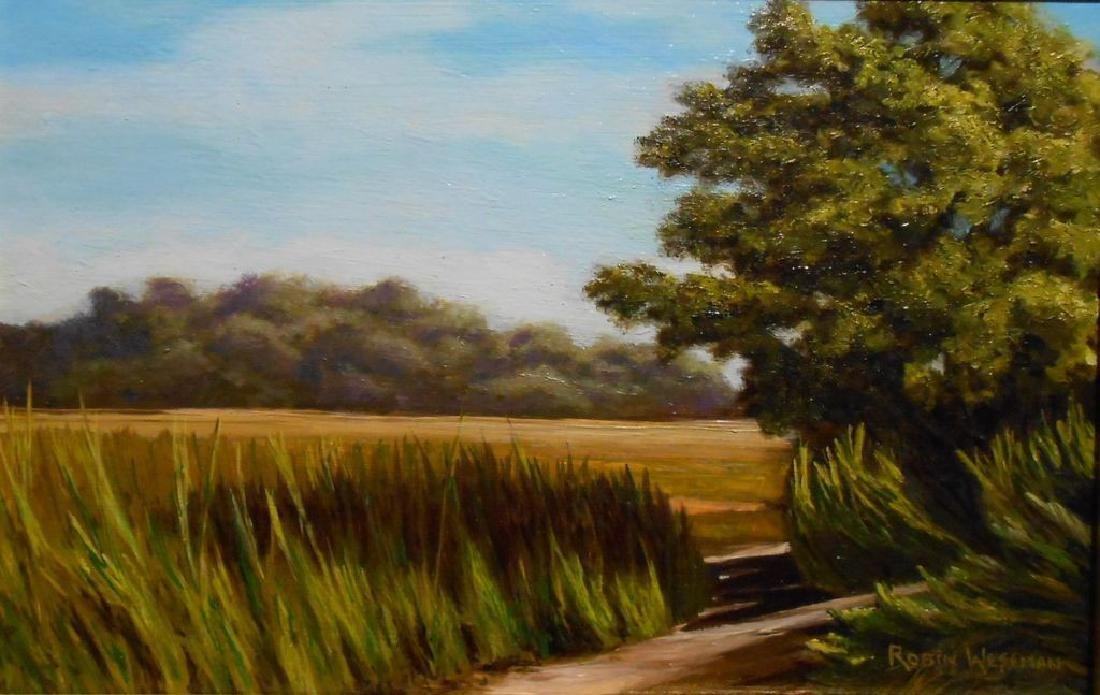 Atlantic Salt Marsh Plein Air Oil Painting - 2