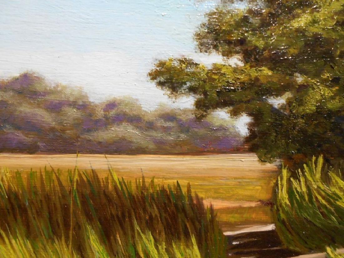 Atlantic Salt Marsh Plein Air Oil Painting - 5