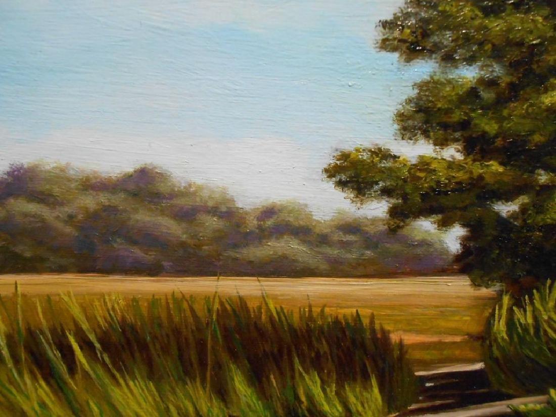 Atlantic Salt Marsh Plein Air Oil Painting - 6