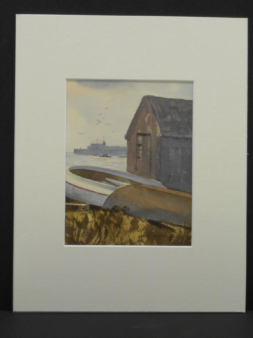New England Coastal Fishing Shack Marine Watercolor - 2
