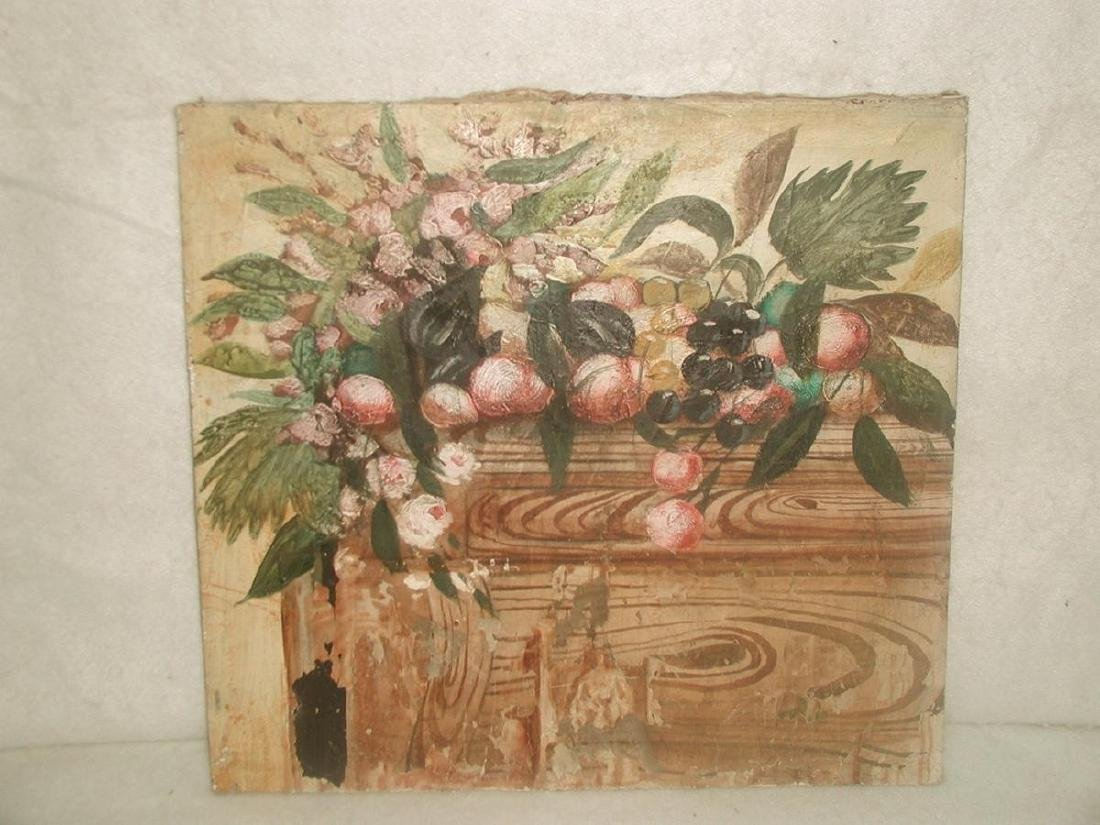 Matching Oil Paintings Unframed Pair On Canvas Early - 2