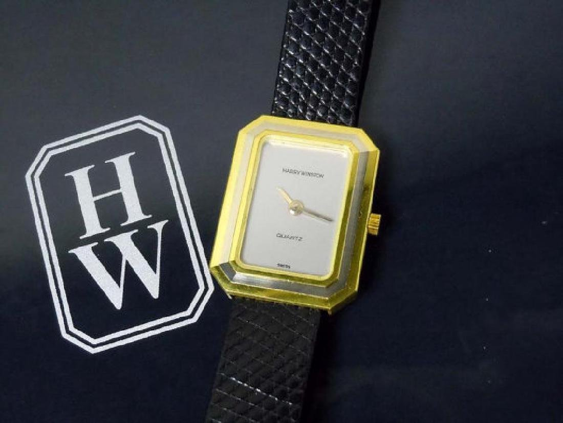 Ladys 18k Gold Harry Winston Dress Watch Clutch Purse