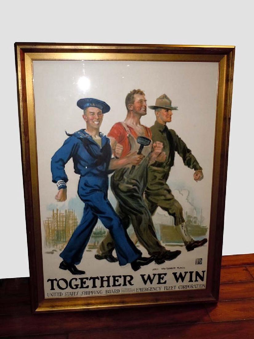 James Montgomery Flagg Together We Win circa 1918 World