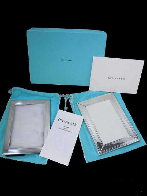 Two Italy Sterling Silver Tiffany And Co Picture Frames