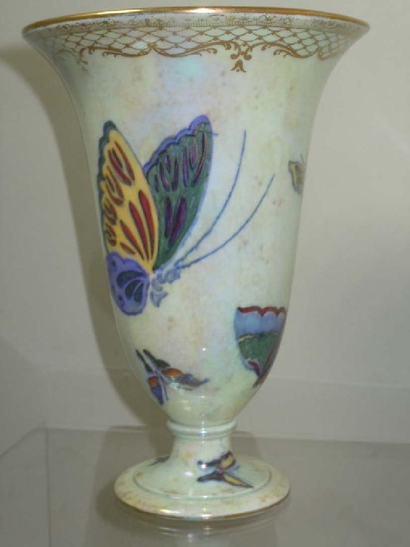 Wedgwood Fairyland Butterfly Lustre Ware Trumpet Vase