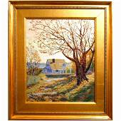 Contemporary Impressionist Cape Cod Painting By Bruce