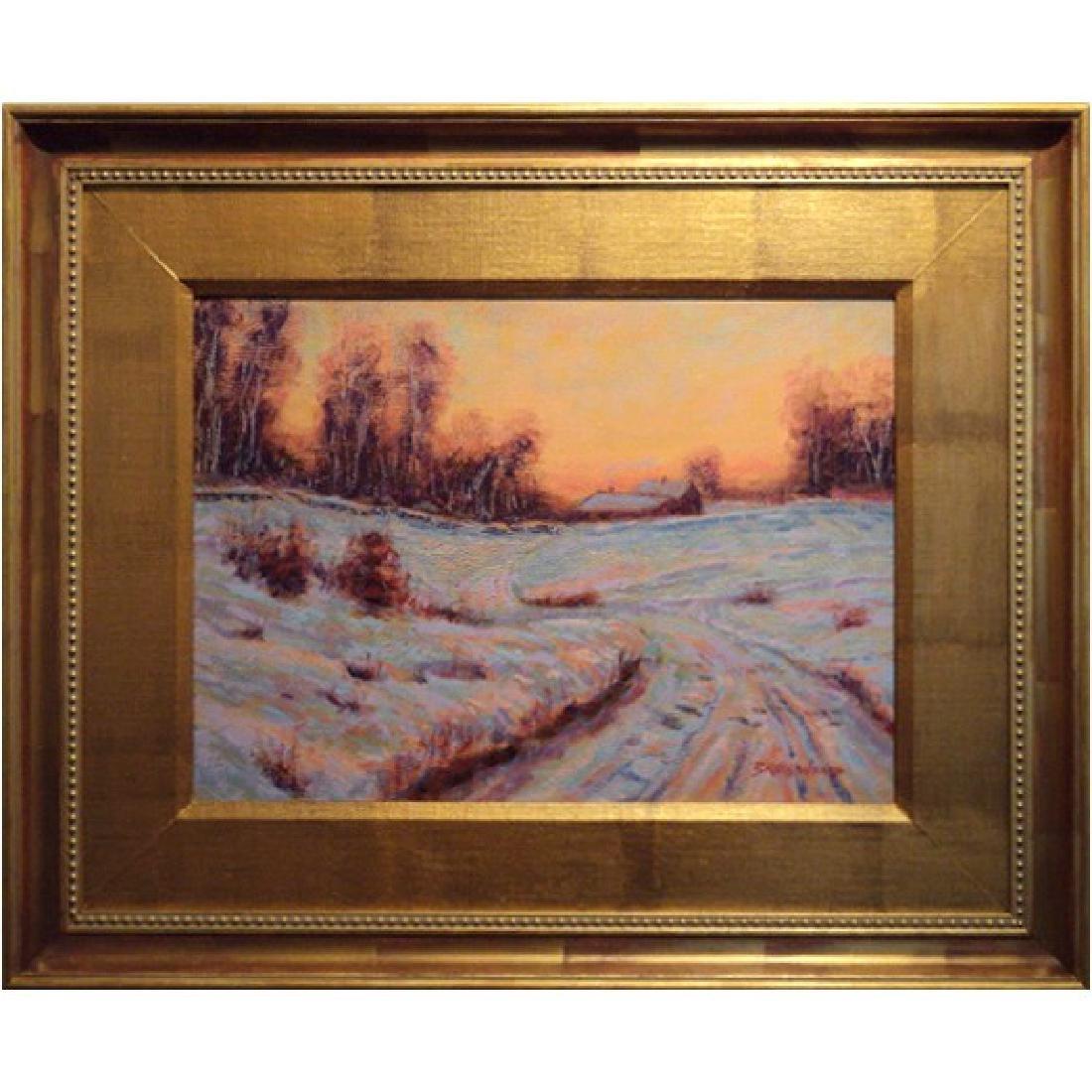 Contemporary Tonalist Winter Sunset