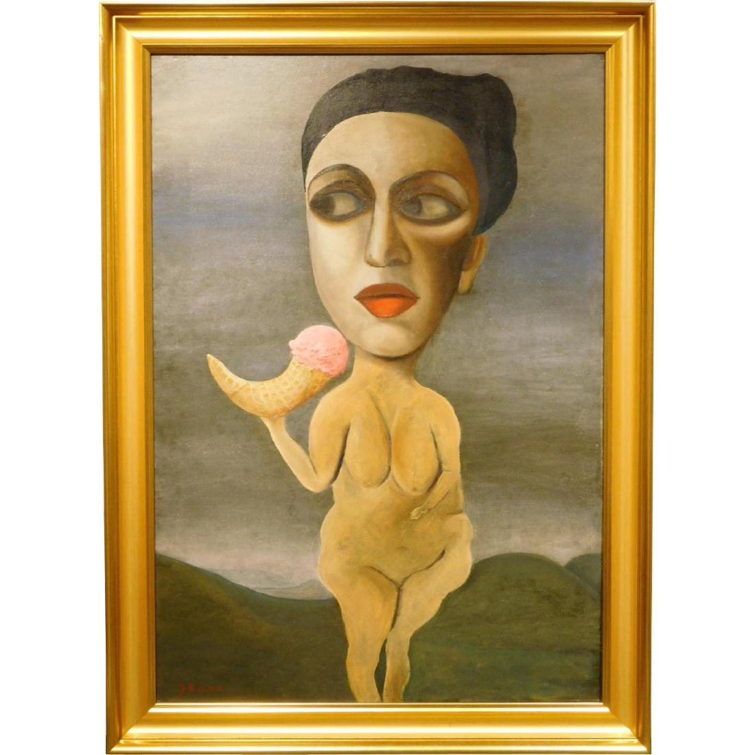 Juta Barbara Bender:Surrealist Nude with Ice Cream