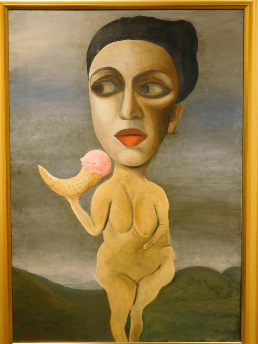 Juta Barbara Bender:Surrealist Nude with Ice Cream - 2