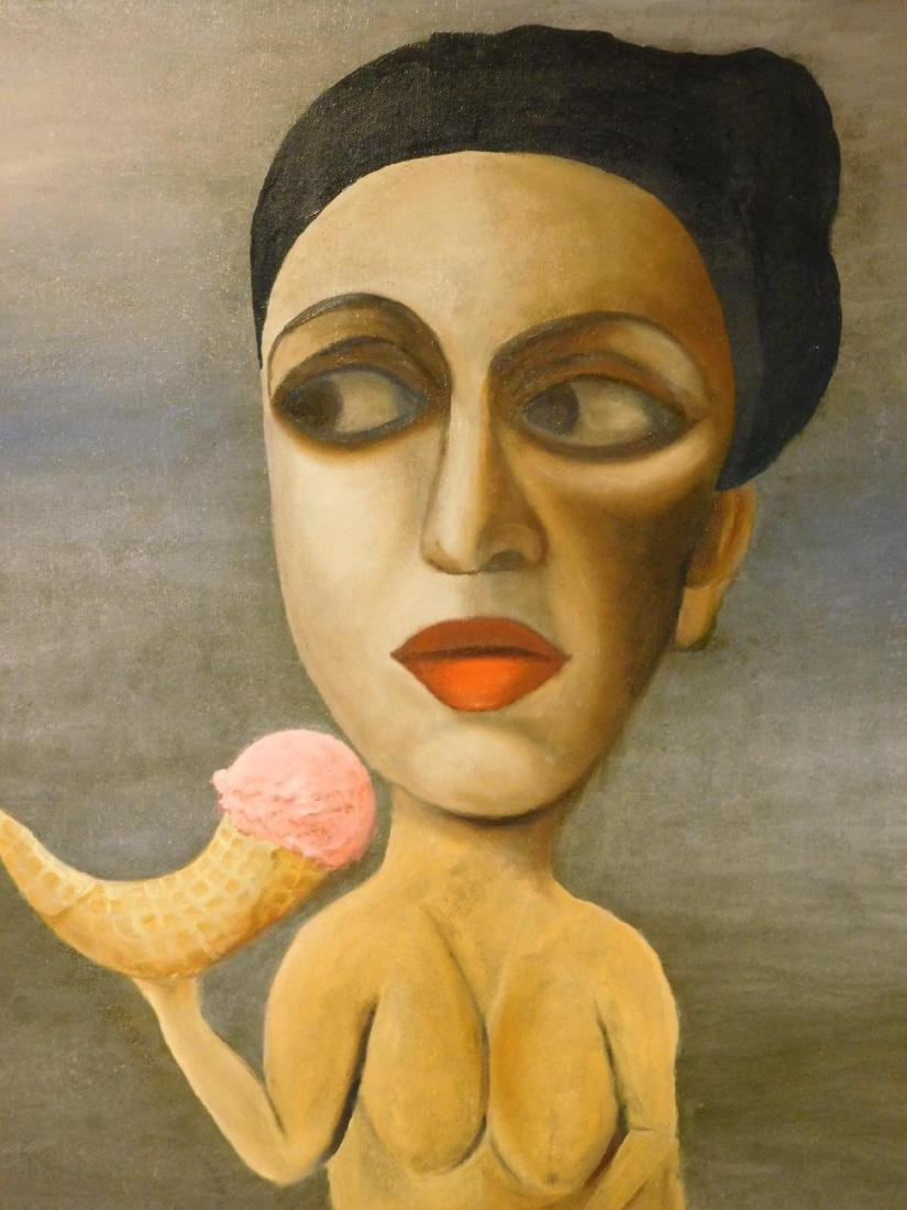 Juta Barbara Bender:Surrealist Nude with Ice Cream - 4