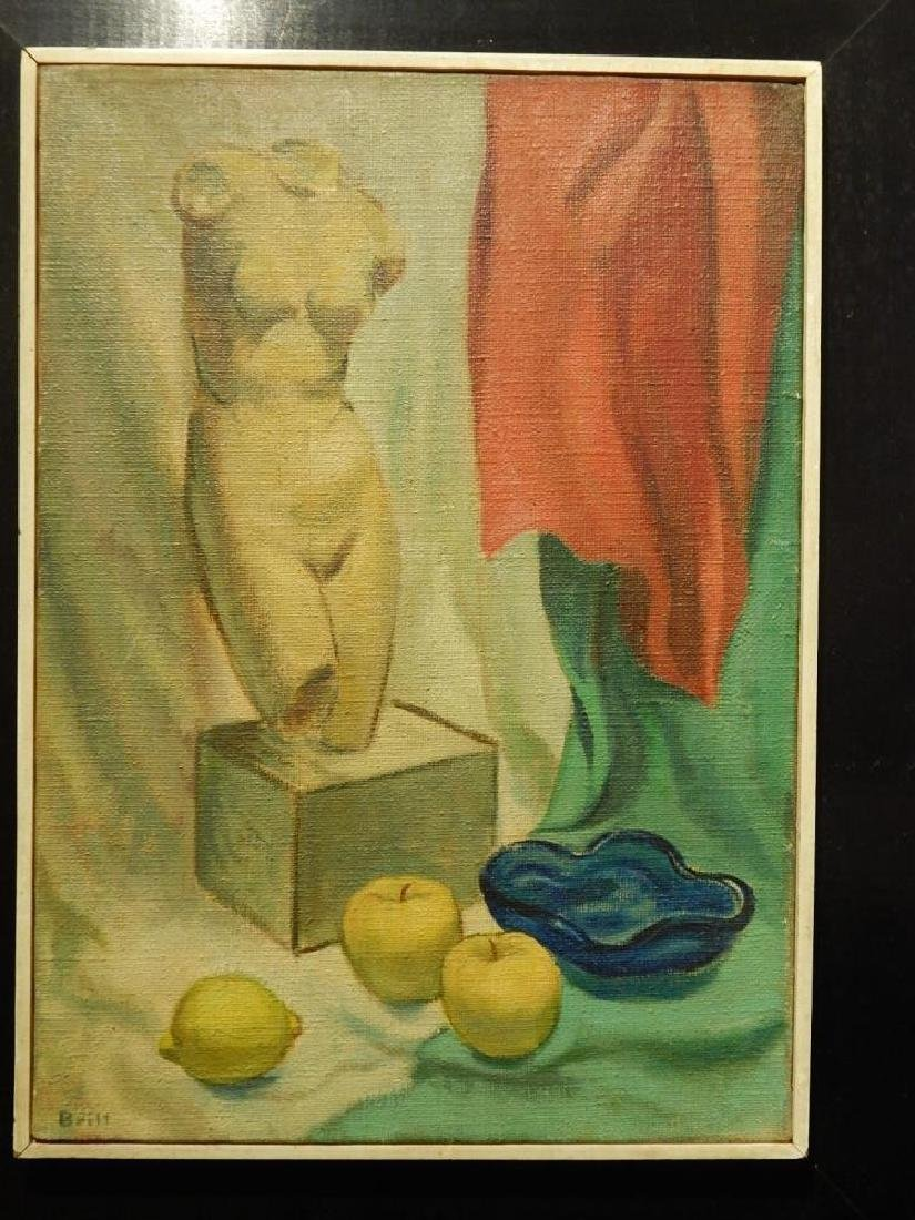 Brill: Still Life Oil Painting c.1950 - 2