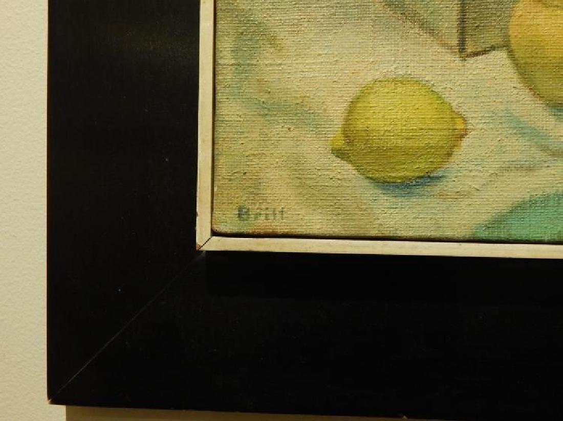 Brill: Still Life Oil Painting c.1950 - 4