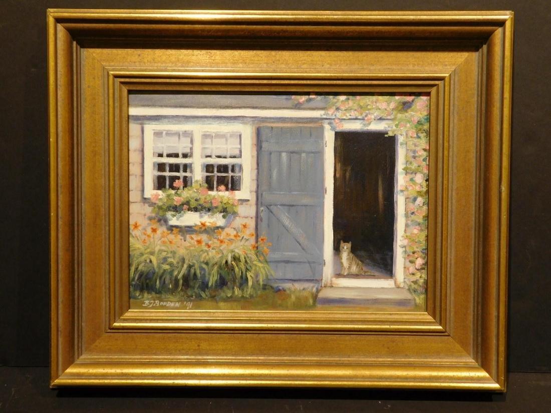 B.J. Borden: Cat in Doorway - 5