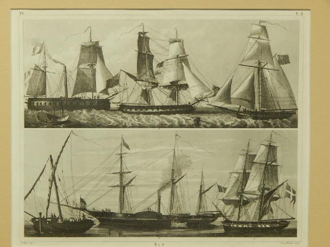 Henry Winkles: Masted Ships, 19th Century Engraving - 2