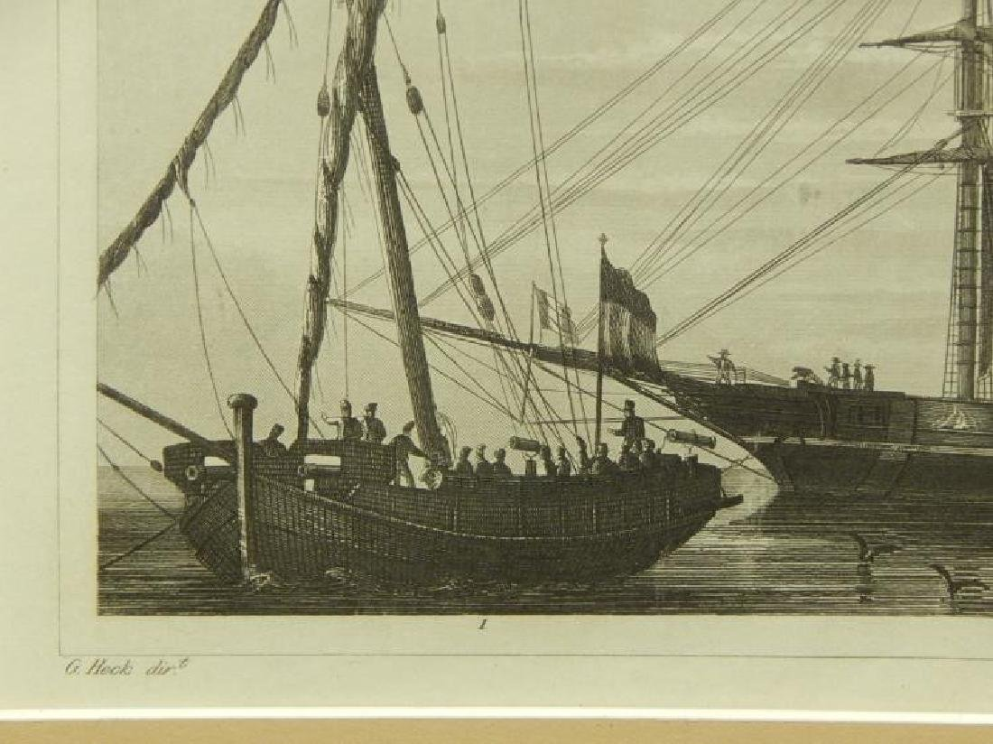 Henry Winkles: Masted Ships, 19th Century Engraving - 3