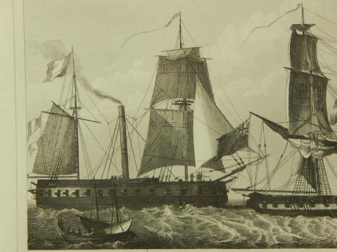 Henry Winkles: Masted Ships, 19th Century Engraving - 4