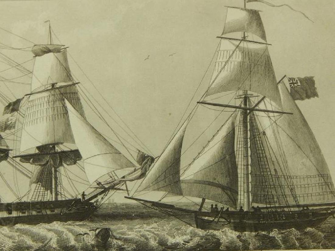 Henry Winkles: Masted Ships, 19th Century Engraving - 5