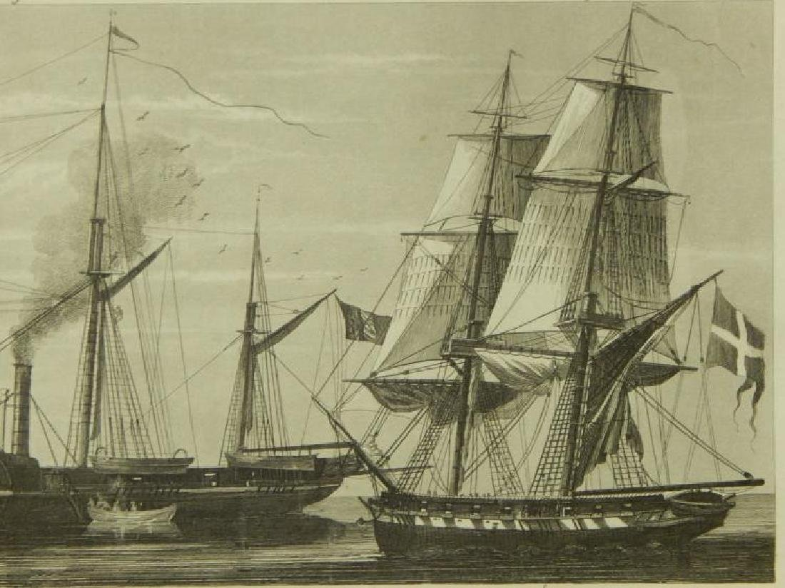 Henry Winkles: Masted Ships, 19th Century Engraving - 6