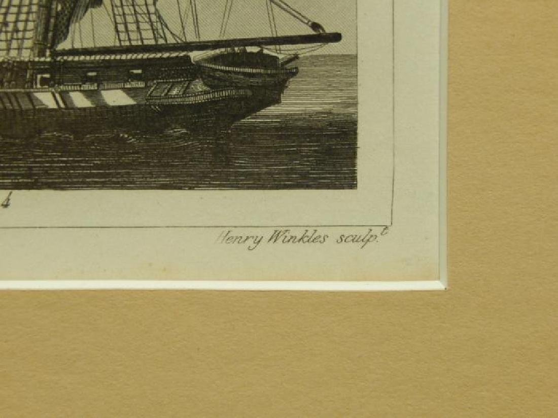 Henry Winkles: Masted Ships, 19th Century Engraving - 7