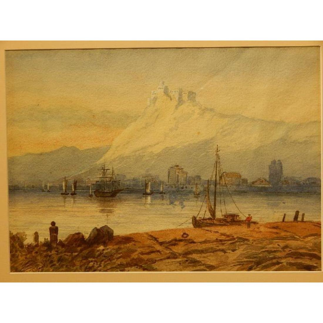 Belgian Harbor, Watercolor, 1885