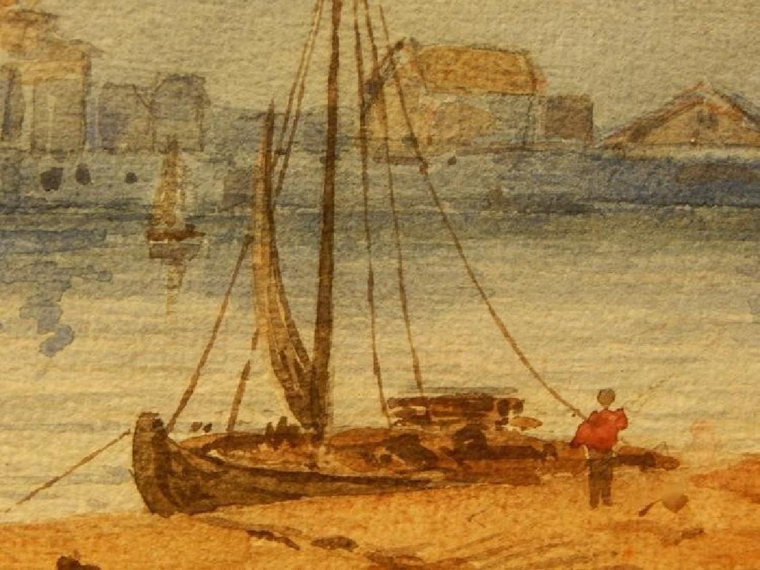 Belgian Harbor, Watercolor, 1885 - 3