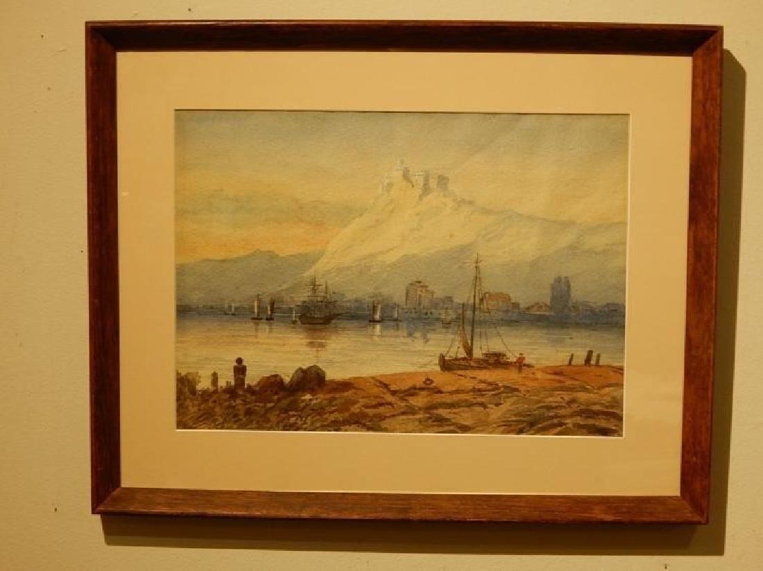Belgian Harbor, Watercolor, 1885 - 5