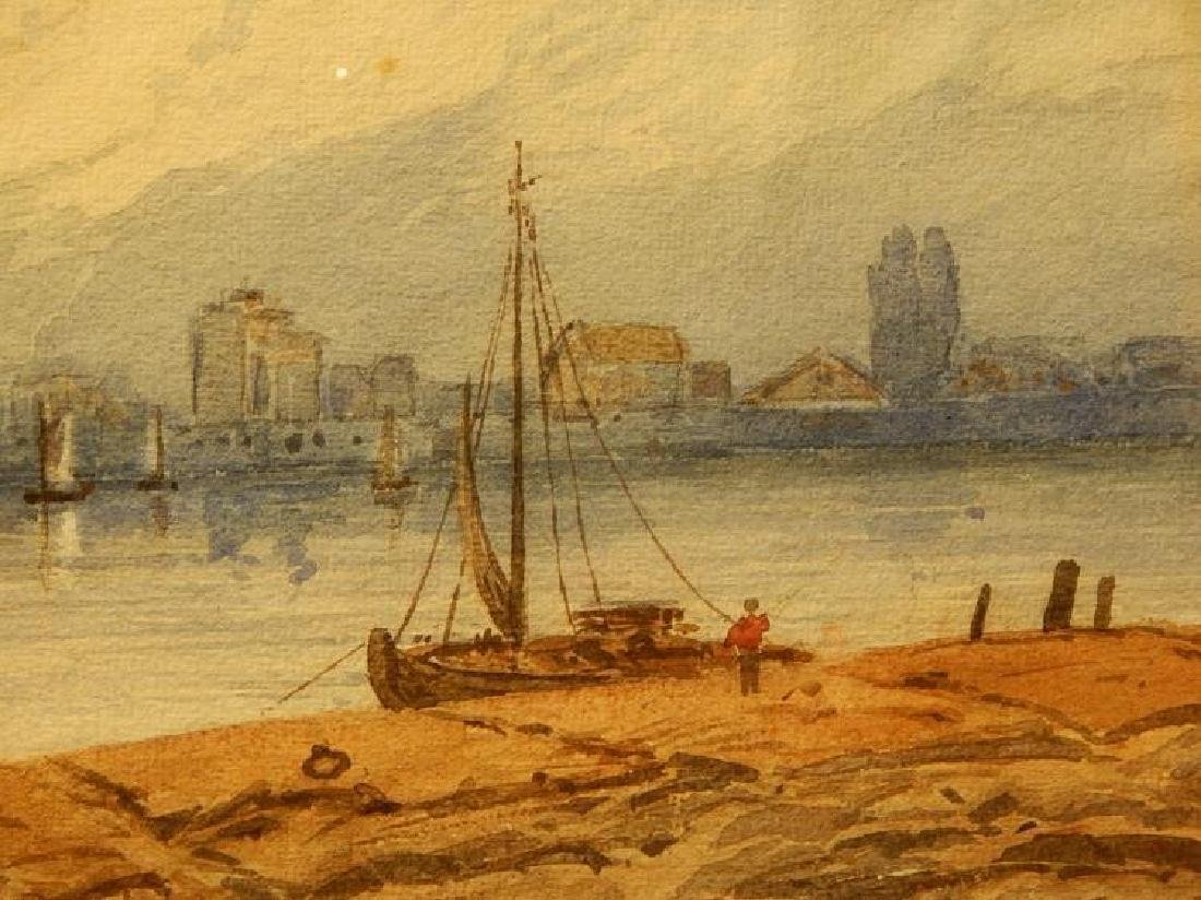 Belgian Harbor, Watercolor, 1885 - 6