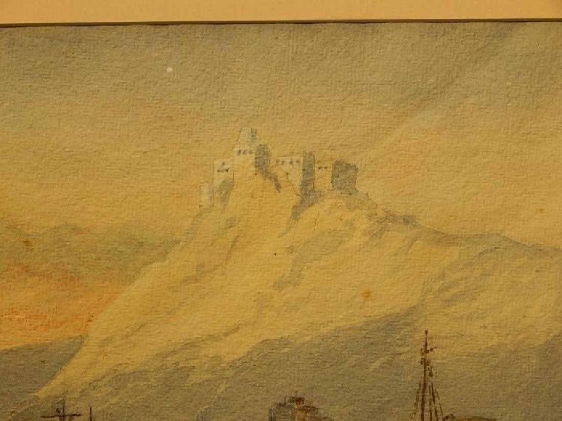 Belgian Harbor, Watercolor, 1885 - 7