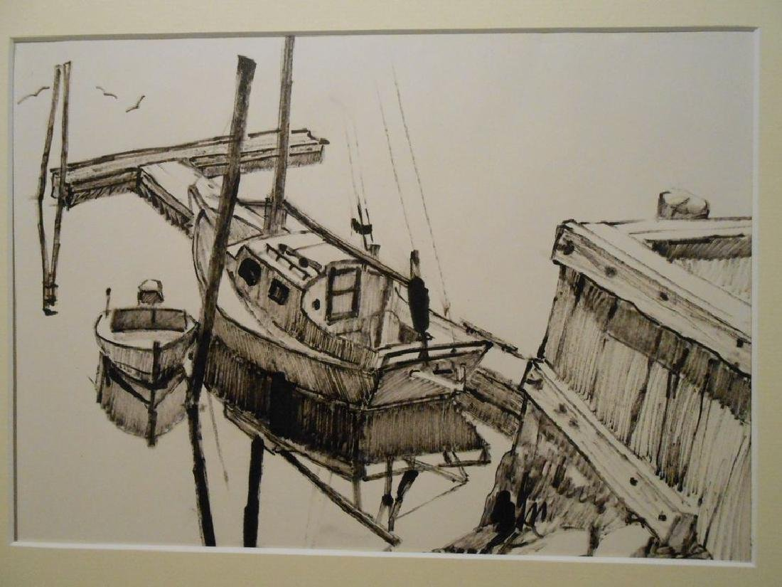 Maine Sailboat Sketch By Palmieri - 2
