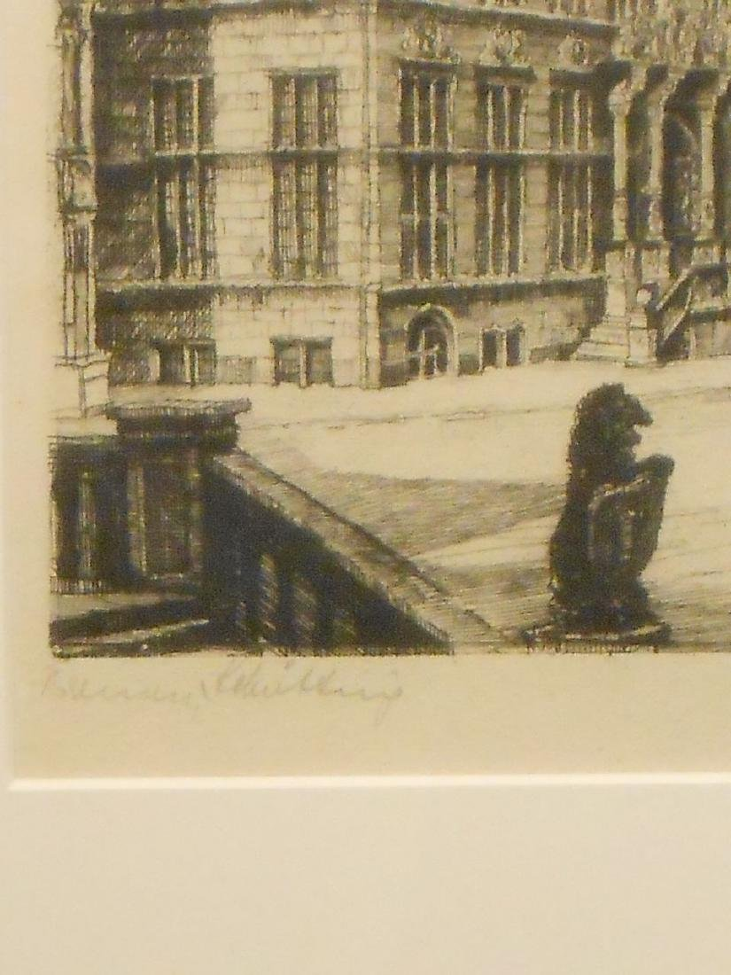 1953 Etching Of Bremen Germany - 5