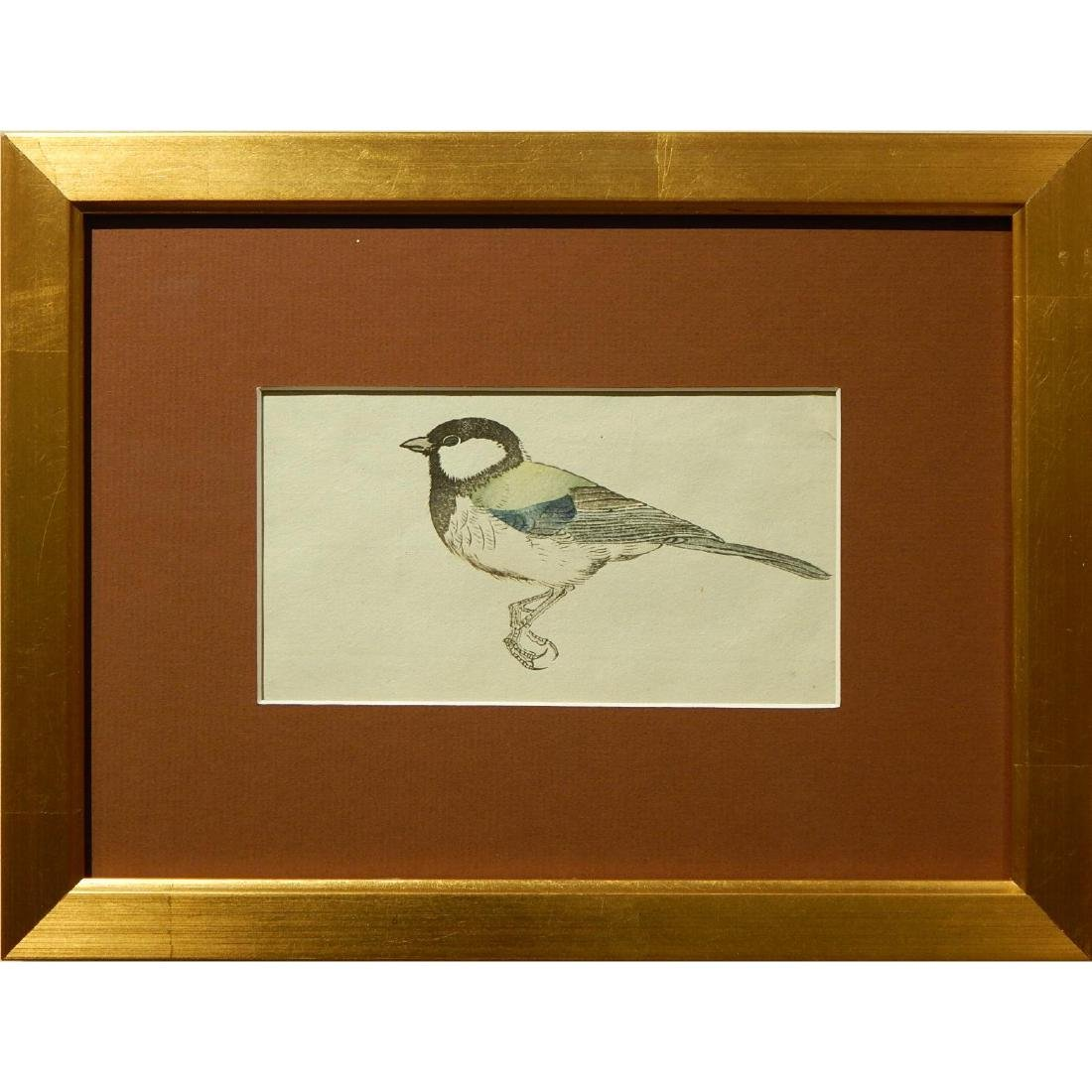 Bird, Japanese woodblock print