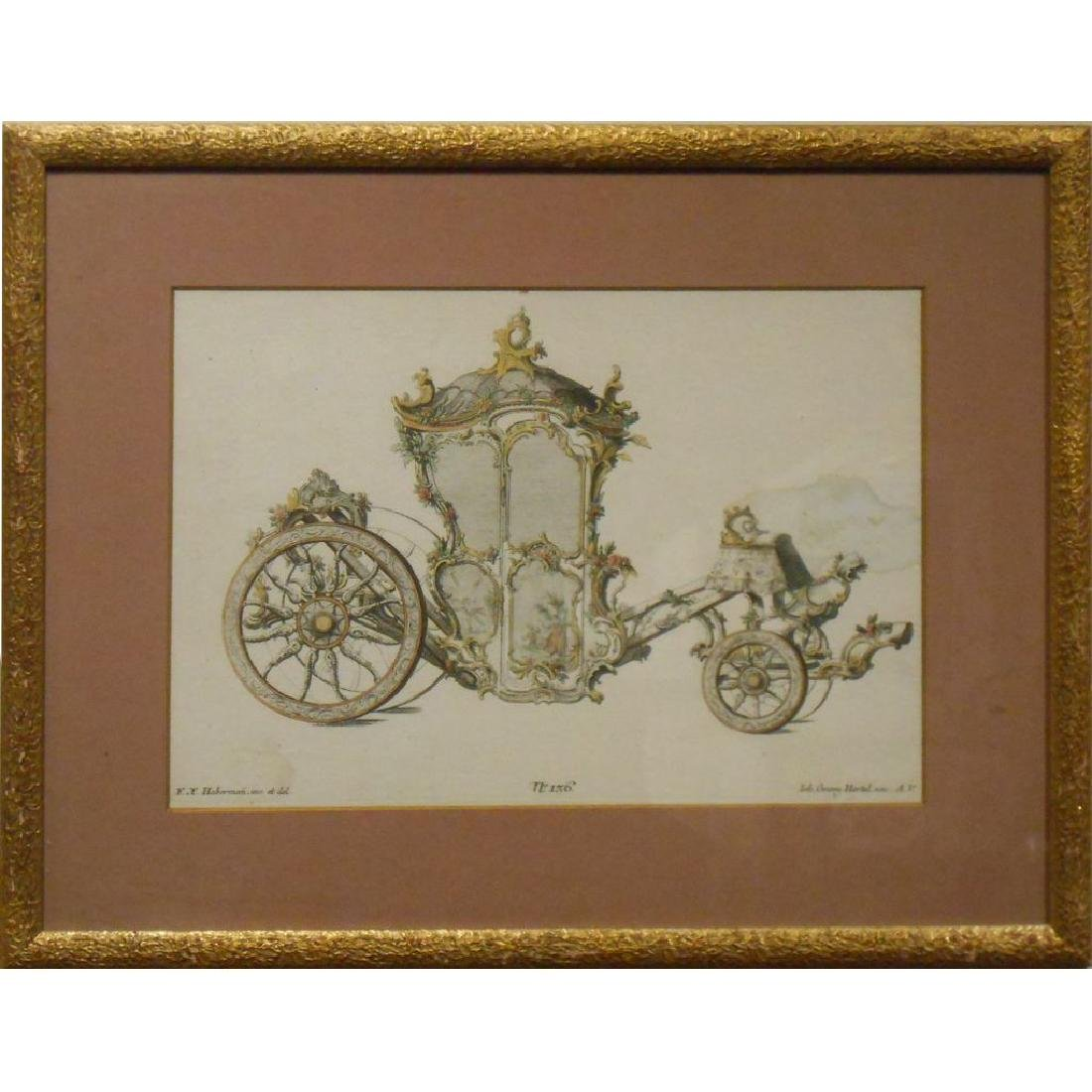 18th Century Etching Of A Coach #2