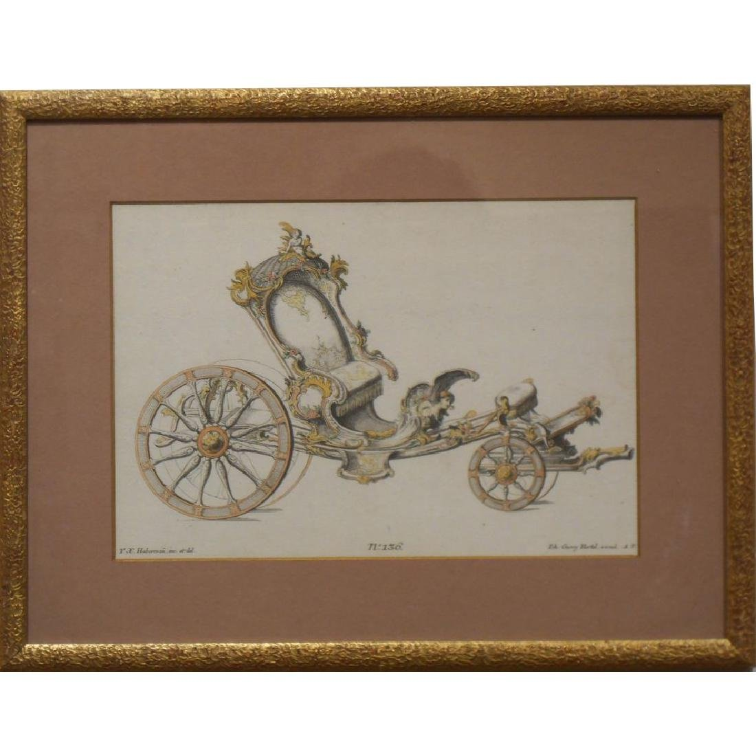 18th Century Etching Of A Coach #4