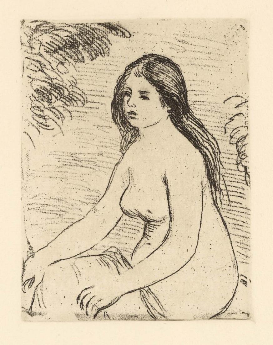 "Pierre-Auguste Renoir ""Femme nue assise"" original"