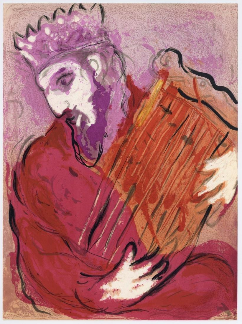 """Marc Chagall """"David and his Harp"""" original Bible"""