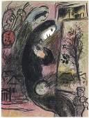 "Marc Chagall original lithograph ""L'Inspire"""