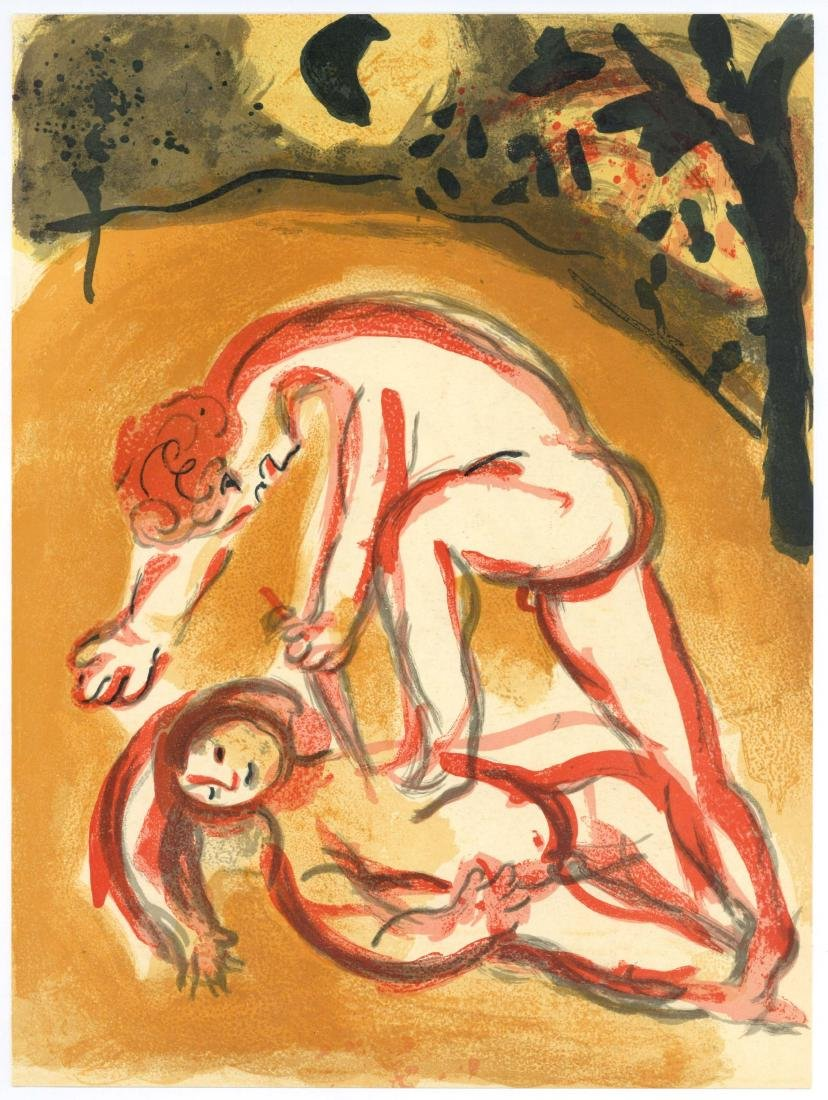 "Marc Chagall ""Cain and Abel"" original Bible lithograph"