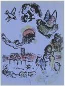 """Marc Chagall original lithograph """"Nocturne at Vence"""""""