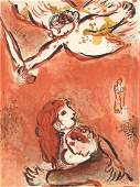 Marc Chagall The Face of Israel Bible lithograph
