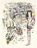 "Marc Chagall original lithograph ""Le jeu des acrobats"""